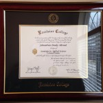On the wall and official! associatesdegree